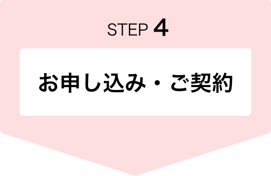 STEP4 お申し込み・ご契約